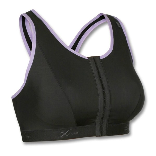 CW-X XTempo Support Running Sports Bra - Black/Lavender