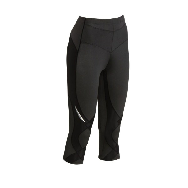 CW-X Stabilyx Womens Supportive Performance 3/4 Running Tights - Black